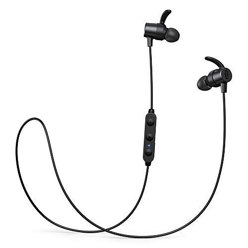 Bluetooth Kopfhörer in Ear,TaoTronics Bluetooth 5.0 Sportkopfhörer SoundElite 72 aptX HD Audio CVC8.0 Mikrofon IPX7 Wasserdicht 14 Stunden Wiedergabezeit 3 EQ Einstellungen Magnetisch Clip