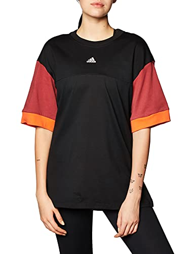 adidas W New A T Camiseta, Mujer, Negro, 2XS