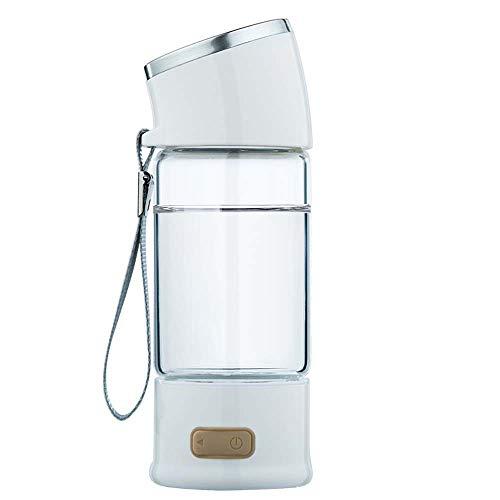 NCBH Wasserstoffreicher Becher Hochwertiger Wasserstofftank Wasserfilter Alkalisherstellungsmaschine Magnetischer Magnetisierter Becher Negativer Wasserstoffionen Tragbarer Flaschenelektrolyseur,Weiß