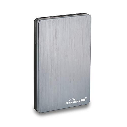 Blueendless Disque dur externe portable avec USB3.0 pour ordinateur de bureau et portable 6,3cm 320 Go gris
