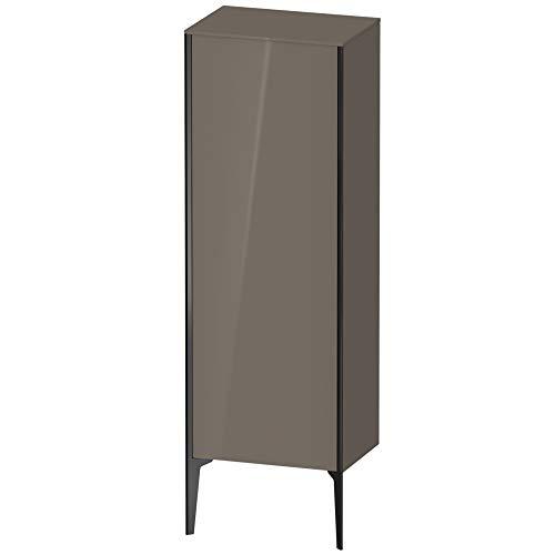 Duravit XViu XV1326 Verticale halfhoge kast, 500x360 mm, hoogte 1330 mm, 1 deurstopper rechts, Kleur (voorzijde/karkas): zwart mat/flanelgrijs hgl. - XV1326RB289