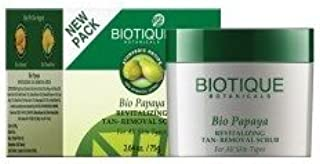 Biotique Bio Papaya Smoothing & Revitalizing Tan-Removal Scrub (75gm)