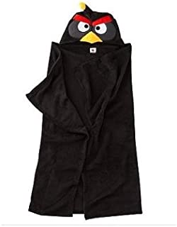 Jay Franco & Sons Angry Birds Hooded Towel - Black