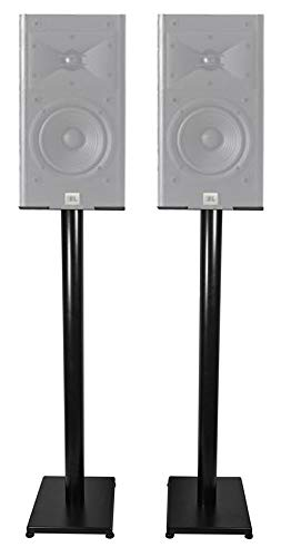 Why Should You Buy Black 37 Steel Bookshelf Speaker Stands for JBL Arena 130 Bookshelf Speakers