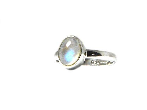 Art Gecko - 0,925 Sterling-Silber 925 Oval Mondstein