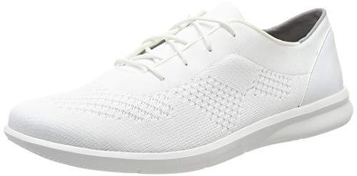 Rockport Women's Ayva Washable Knit Tie Trainers, White (White 004), 37.5