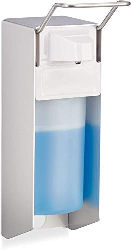 RMBT Auf Lager Lieferung sofort Eurospender 500 ml, Seifenspender Wandmontage, Desinfektionsmittelspender, Bügel-Mechanik, weiß
