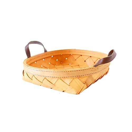 Eiermanden, Draagbaar Handgemaakt Geweven Mand Voor Keuken Picknick Fruit Voedselopslag (Color : C-25×25×6cm)