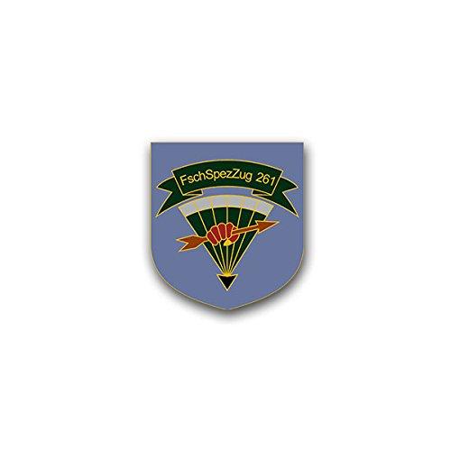 Copytec Aufkleber/Sticker - FschSpezZug 261 FschSpezZh Fallschirmspezialzug Falli Fallschirmjäger Fallschirmspringer Bundeswehr Wappen Abzeichen 6x7cm #A1645