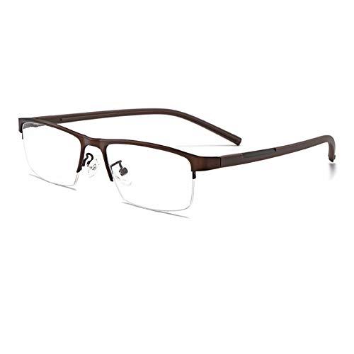 EYEphd Gafas de Sol fotocromáticas Inteligentes para presbicia para Hombres, Exquisita Lente de Resina de Alta definición con bisagras para Exteriores /UV400 Aumento +0.25 a +3.0,Marrón,+3.0