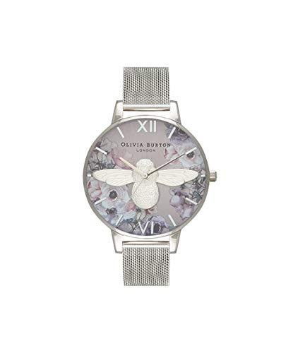 Olivia Burton Damen Analog Quarz Uhr mit Edelstahl Armband OB16PP42