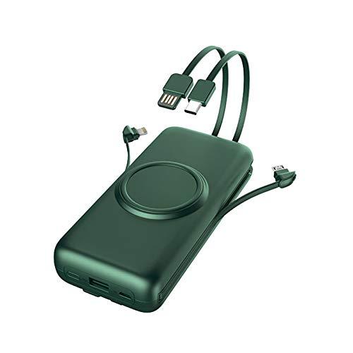 CJSWT Power Bank Tragbares Ladegerät Mit Eingebautem Kabel, 20000Mah Energien-Bank-Bewegliches Aufladeeinheit Typ Handy Dünner Dünner Leichte Spielraum Mini-5V-Backup Battery Pack,A