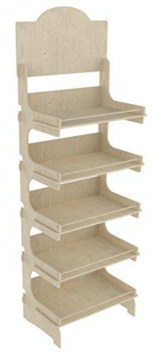 Cemab Europa - Expositor de madera con 5 niveles (53 cm)