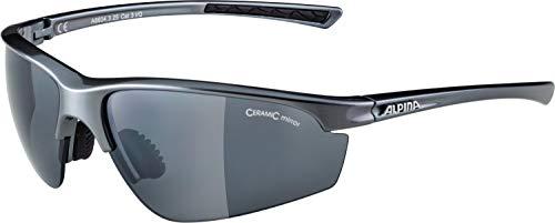 ALPINA TRI-EFFECT 2.0 Sportbrille, Unisex– Erwachsene, dark grey, one size