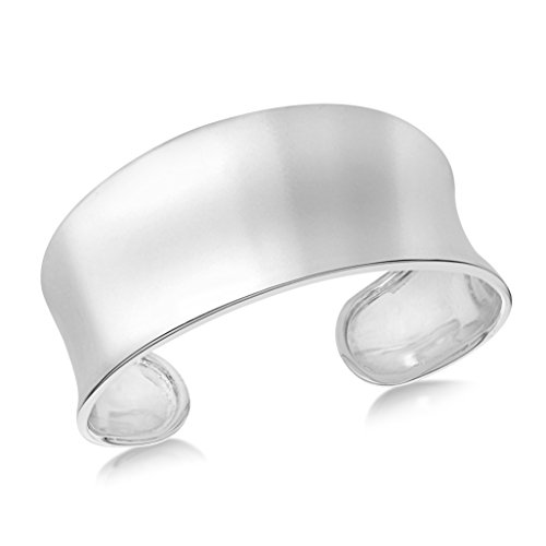 Tuscany Silver Women's Sterling Silver 17-30 mm Concave Torque Bangle