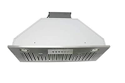 "Awoco Built-in/Insert Stainless Steel Range Hood, 4-Speed, 600 CFM, LED Lights, Baffle Filters for Wood Hood (36"")"