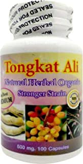 The Best Premium Tongkat Ali Pasak Bumi Root Powder Natural Herbal 500mg 100 Caps Vegetarian Capsules
