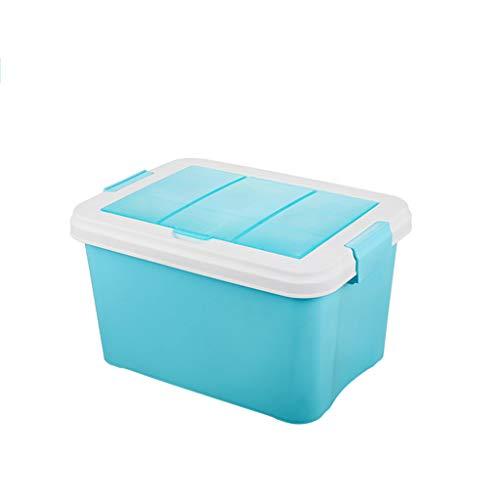 LU Boîte de rangement double avec couvercle, bac de rangement en plastique pour voiture, organisateur de rangement empilable pour cuisine, salon, chambre à coucher, salle de bains