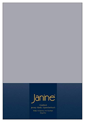 Janine Spannbettlaken 100 x 200 cm 5002 Bettlaken Elastic Platin 95 % Baumwolle, 5 % Elasthan L/B ca. 200/100 cm