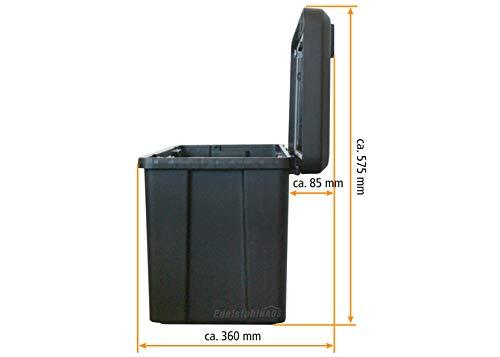 Blackit L - 750 x 300 x 355 mm, Deichselbox mit 2 Schlösser, Werkzeugkasten für Anhänger Staukiste 50 ltr Anhängerbox, Daken B50-2 - 4