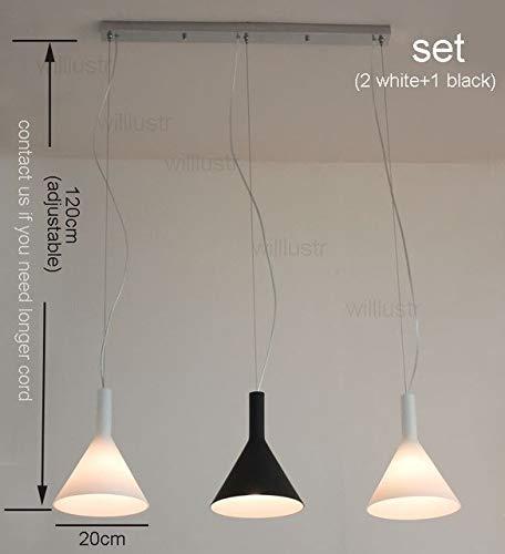 5151BuyWorld Lamp hanger van glas, helder, wit, modern, huis, eetkamer, zwart, trompet, kamer, hotel, woonkamer, restaurant, café, bar, trechter, lamp, design
