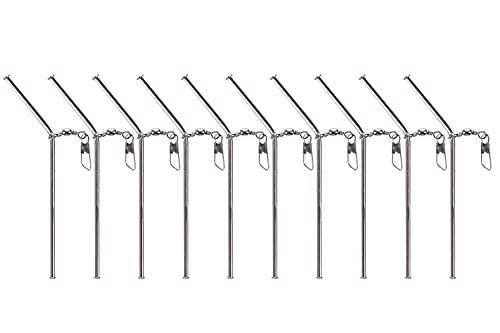 Zite Fishing Anti Tangle Boom Tubes Metall - Sleeve Abstandhalter Röhrchen Set 10 STK - Feeder-Zubehör Karpfen-Angeln