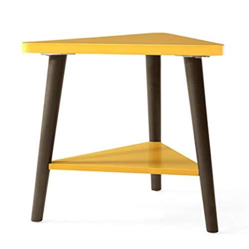 Tables basses Chambre À Coucher Pieds en Bois Massif Mini Canapé Côté Table De Téléphone Salon Nordique Petite Table Cadeau (Color : Yellow, Size : 44 * 50 * 46cm)