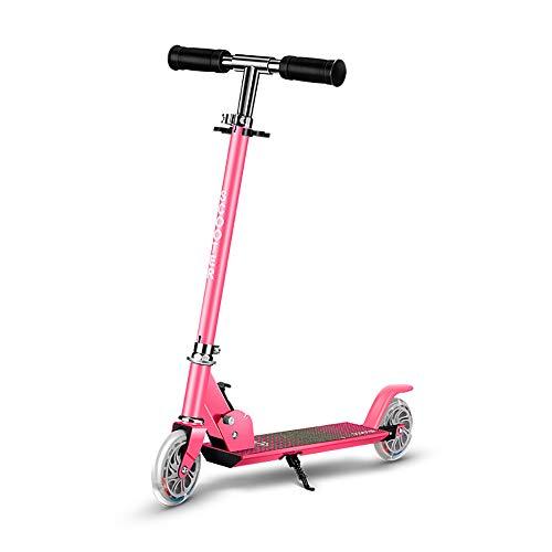 De Dos Ruedas de Vespa de elevación Plegable Todas Aluminio Vespa Vespa Pedal, para los niños, Las Muchachas de los Mejores Regalos,Rosado