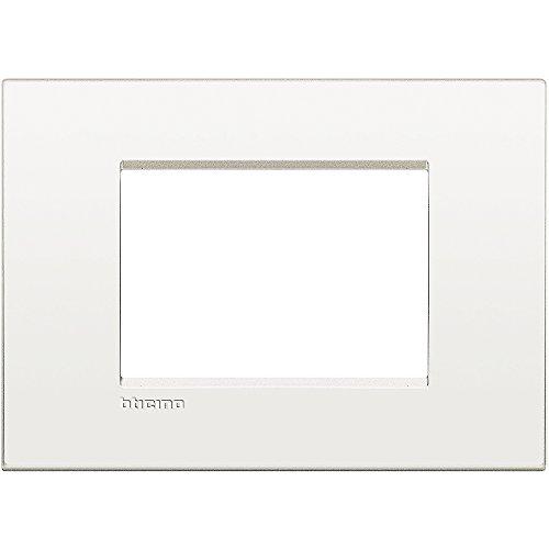 BTicino LNC4803BN Livinglight Air Placca 3 Moduli, Bianco