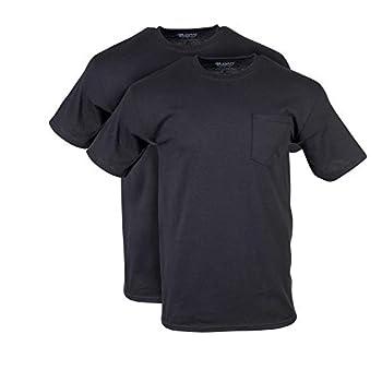 Gildan Men s DryBlend Workwear T-Shirts with Pocket 2-Pack Black X-Large