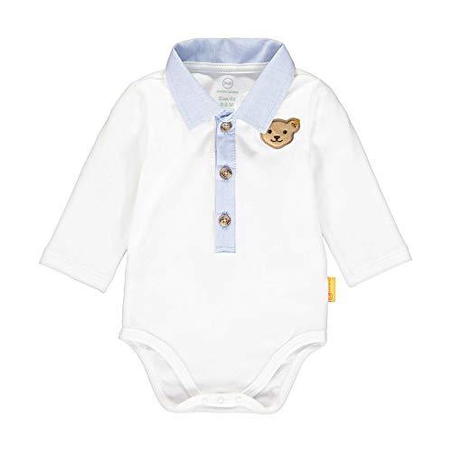 Steiff Baby-Jungen Formender Body, Weiß (Bright White 1000), 50 (Herstellergröße: 050)