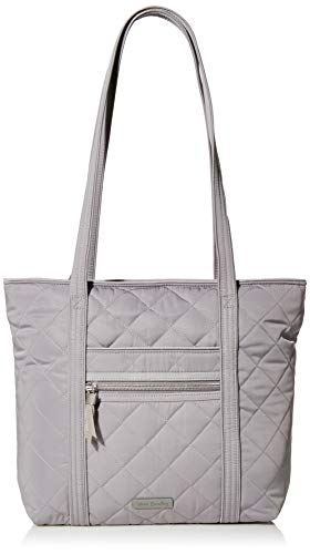 Vera Bradley Women's Performance Twill Small Vera Tote Totes, Tranquil Gray, One Size