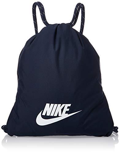 Nike Polyester 0 cms Obsidian/Obsidian/White Drawstring Gym Bag (BA5901-451)