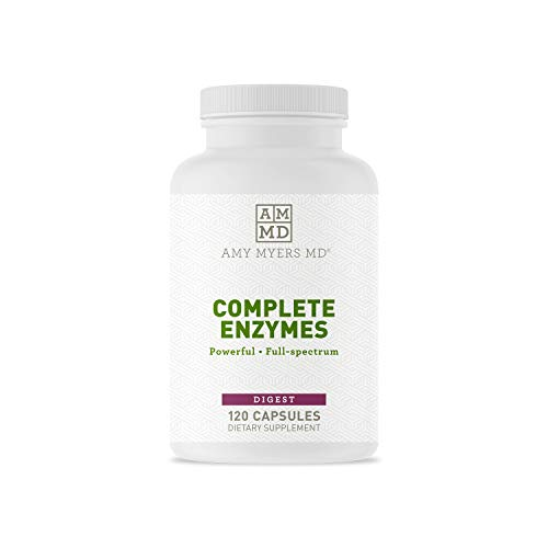 Dr. Amy Myers Digestive Enzymes Capsules – 19 Enzymes to Support Gut Health, Bloating & Gas Relief - Amylase, Lipase, Lactase, Alkaline Protease, Sucrase + More – 120 Vegetarian Capsules