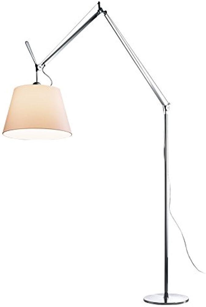 Artemide, lampada da terra Ø 42 cm, in alluminio, paralume in carta pergamena 0779010A + 0780020A + 0778010A