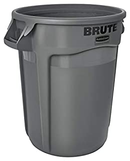 Rubbermaid Commercial Brute LLDPE Round Container without Lid, 32-Gallon, Gray (FG263200GRAY) (B00002N60O) | Amazon price tracker / tracking, Amazon price history charts, Amazon price watches, Amazon price drop alerts