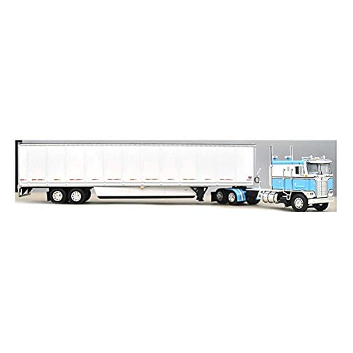 1/64 DCP Blue Kenworth K-100 110 FT Cab with Wabash Duraplate Dryvan by First Gear 60-0901