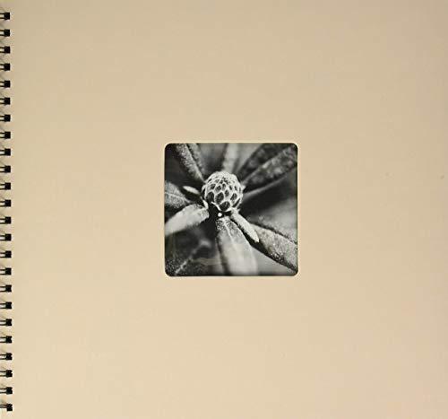Hama Fine Art - Álbum de fotos, 50 páginas negras (25 hojas), álbum con espiral, 36 x 32 cm, con compartimento para insertar foto, taupe/beige