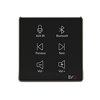 HELMER in Wall Audio Amplifier Wall Mount Bluetooth Receiver in-Wall Stereo Audio Volume Controller Black L50