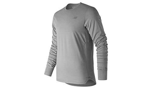New Balance T-Shirt de Course à Pied pour Homme L Gris athlétique