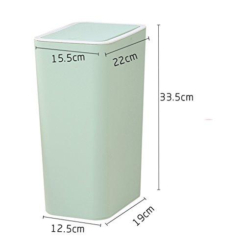 DW&ACCDB Un Cubo de Basura Adecuado para Espacios Estrechos,Material plástico Cubierto Simplicidad-H 8L
