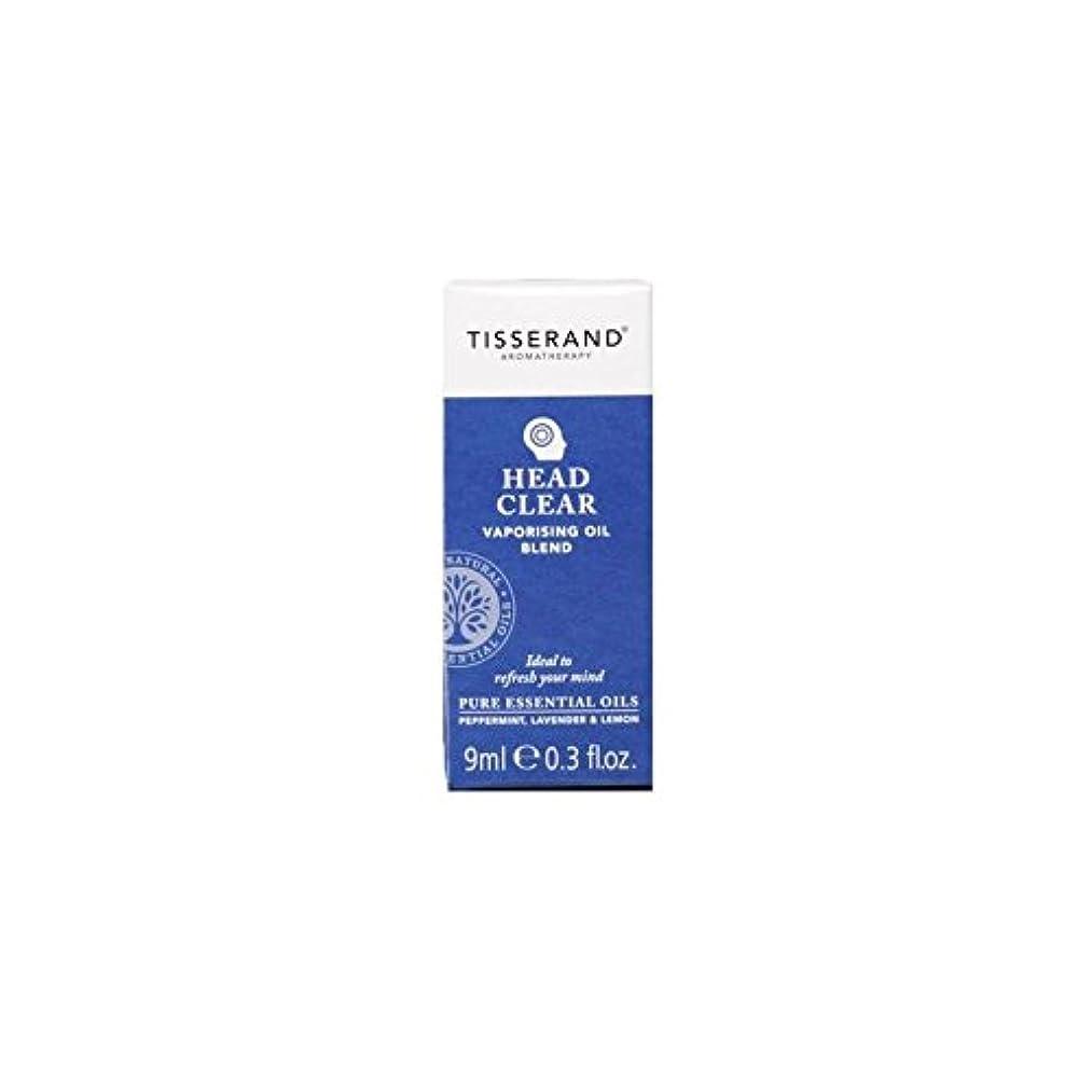 集団ダイアクリティカル傾いたヘッド明確な気化油の9ミリリットル (Tisserand) (x 4) - Tisserand Head Clear Vaporising Oil 9ml (Pack of 4) [並行輸入品]