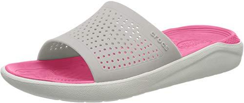 Crocs Unisex-Erwachsene Literide Slide Dusch-& Badeschuhe, Weiß (Pearl White/White 115.), 42/43 EU