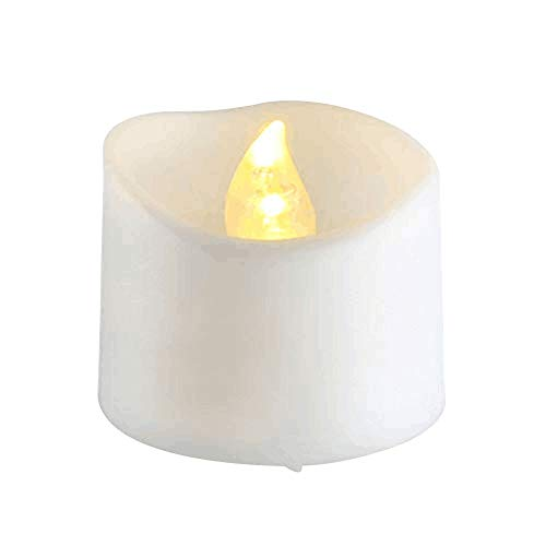 SHOPANTS LED Candles Flickering Flame Tea Light LED Flameless Candles Electric Tea Lamps Votive Candles Warm White 1 Pack [Energy Class A+++]