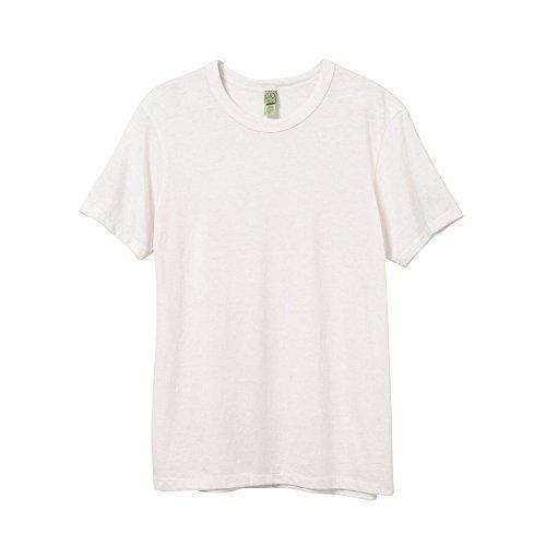 Alternative Apparel T-Shirt à Manches Courtes en éco-Jersey pour Homme M Eco Ivoire
