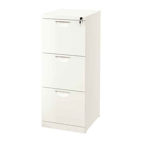 Amazon.com : New Ikea Erik Office File Cabinet With 3 Drawers and Lock White Color Lockable : Office Products