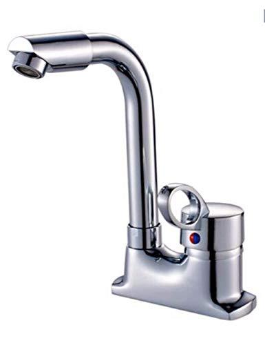 ZKORN Cu alle Becken mit Zwei Warm- und Kaltwasserhähnen 360 Grad warm/kalt Wasser Laufen Badarmaturen