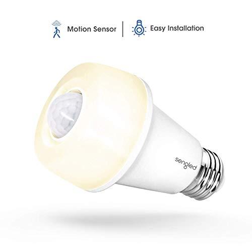 Sengled LED with Motion Sensor, Soft White 2700K, A19 60W Equivalent, Indoor Use, 1 Pack