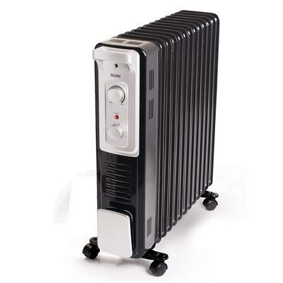 Glen 7015 11 Fins Electric Oil Filled Radiator Room Heater 2900W
