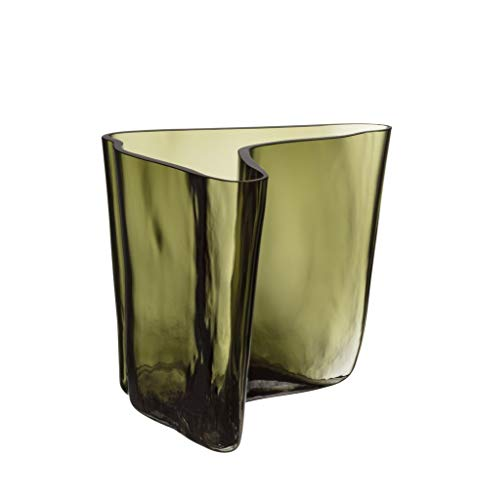 Iittala 1057119 - Vaso Aalto, 175 x 140 mm, colore: Verde muschio